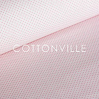 ✁ Отрезы поплина Точки розовые на светло-розовом, фото 1