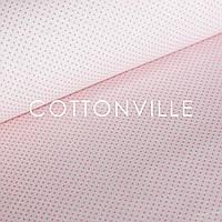 Бязь Точки розовые на светло-розовом, фото 1