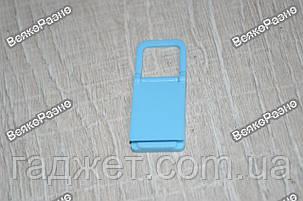 Универсальная мини складная пластиковая подставка для мобильного телефона голубого цвета, фото 2