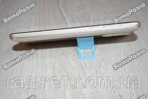 Универсальная мини складная пластиковая подставка для мобильного телефона голубого цвета, фото 3