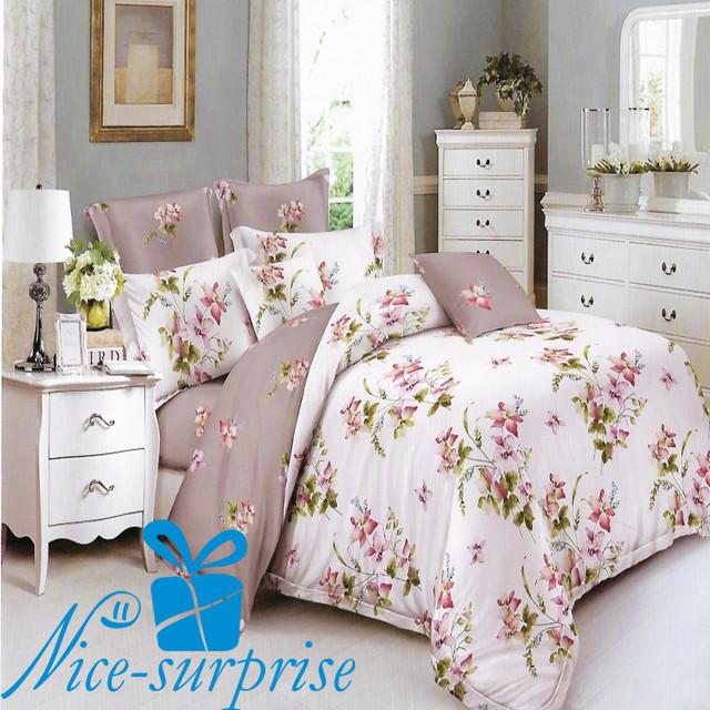 купить двуспальный постельный комплект из сатина в Украине