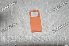 Универсальная мини складная пластиковая подставка для мобильного телефона оранжевого цвета, фото 2