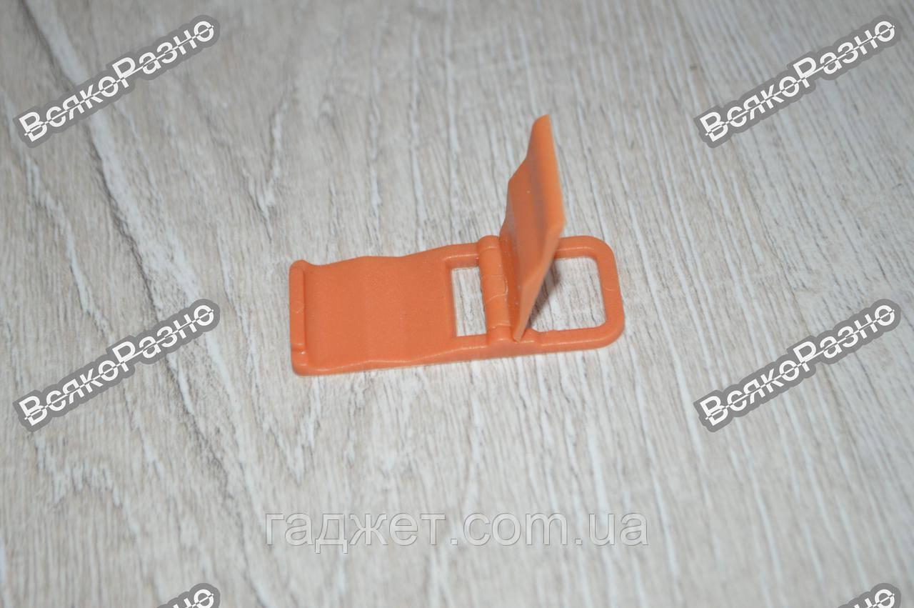 Универсальная мини складная пластиковая подставка для мобильного телефона оранжевого цвета