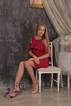 Яркое летнее платье с воланом и карманами красное, фото 2