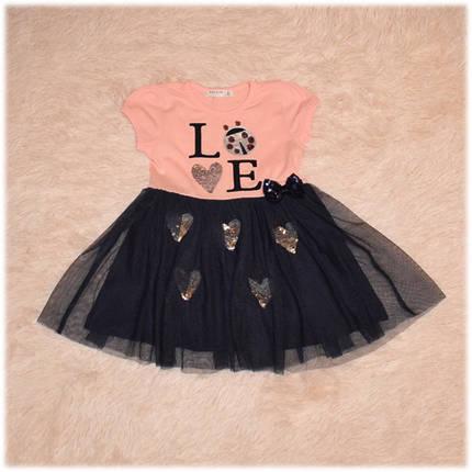 Платье-пачка в пайетки размер 92 98 104 110, фото 2
