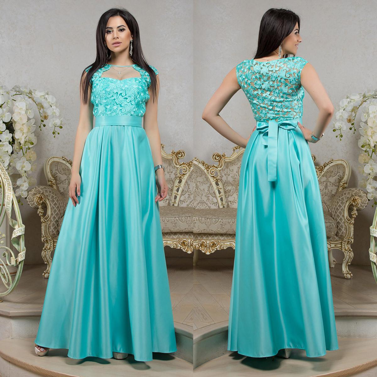 39aa87a131c4b3c Шикарное выпускное, вечернее платье в пол мятное