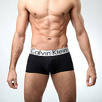 Мужское нижнее белье CKlein STEEL Кельвин Кляйн трусы боксеры шорты на широкой резинке хлопок реплика