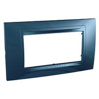 Рамка 4-мод. Голубой лед Unica Schneider, MGU4.104.54