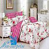 Двуспальный постельный комплект из сатина АКВАРЕЛЬ (180*220)