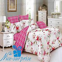 Двуспальный постельный комплект из сатина АКВАРЕЛЬ (180*220), фото 1