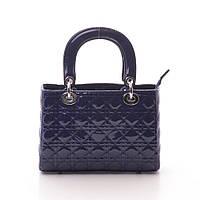 Женская сумка Dior mini стеганая синяя