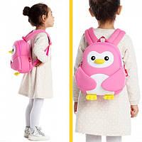 Рюкзак детский Розовый Пингвинчик / Рюкзак для дошкольника / Рюкзак детский дошкольный, фото 1
