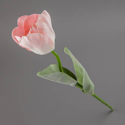 Искусственный-латексный тюльпан розовый., фото 2