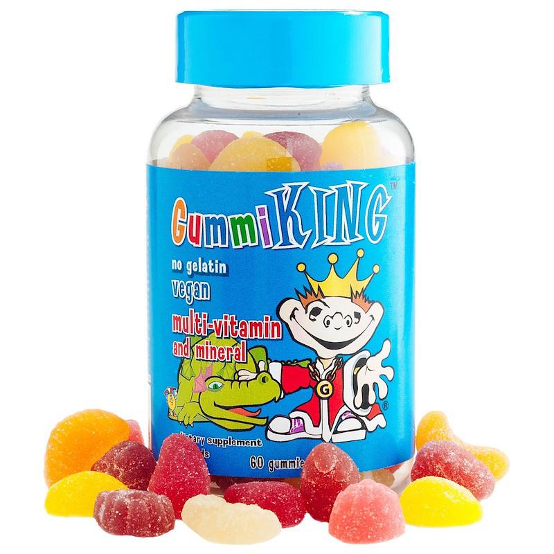 Gummi King без желатина (вегетарианские) Мультивитамины и минералы, для детей 60 шт