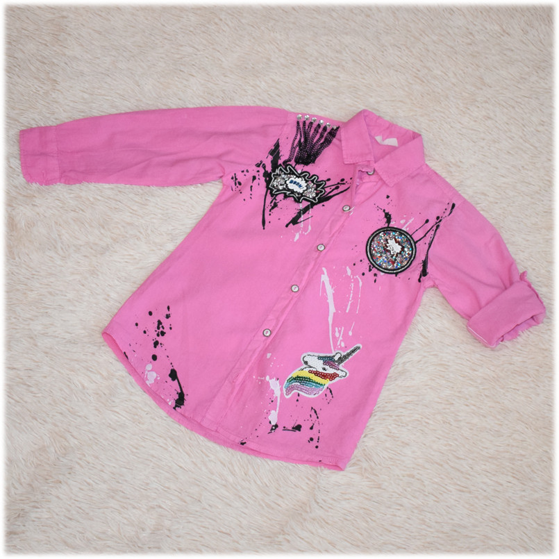 Рубашка-блуза на девочку  размер 104 110 116