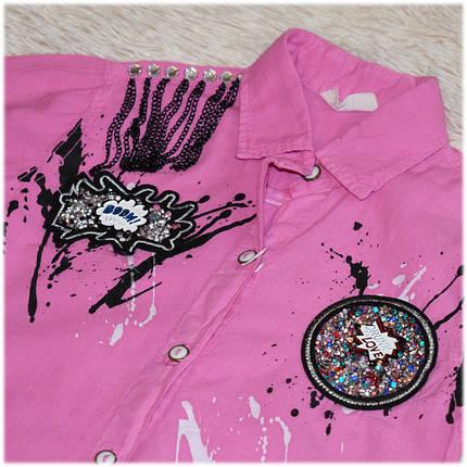 Рубашка-блуза на девочку  размер 104 110 116 , фото 2