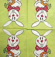 "Салфетка декупажная 33x33см 6 ""Счастливый заяц"""