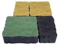 """Тротуарная плитка """"Львовский камень"""" сухопрессованная, 60 мм зеленая, синяя"""