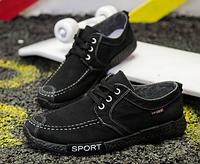 Мокасины Sport черные, фото 1
