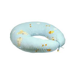 Подушка для кормления с наволочкой голубая (909_Блакитний)