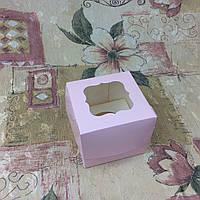 Коробка Пудра для 1-ого кекса с окном  100*100*90, фото 1