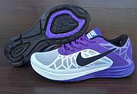 Женские кроссовки Nike Air Max LunarLaunch. Белые с фиолетовым