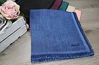 ПЛАТОК *квадрат* темно-голубой, фото 1