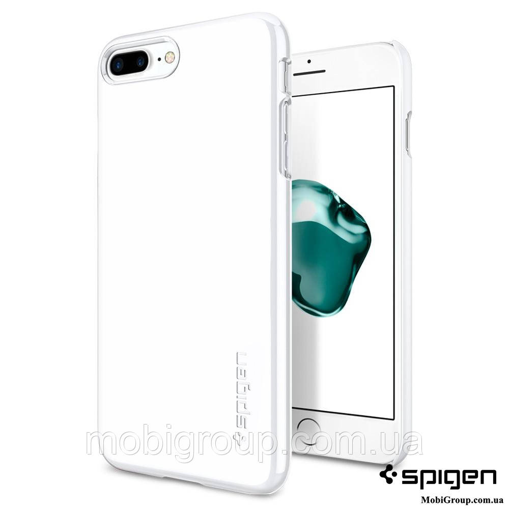 Чехол Spigen для iPhone 7Plus Thin Fit, Jet White, фото 1