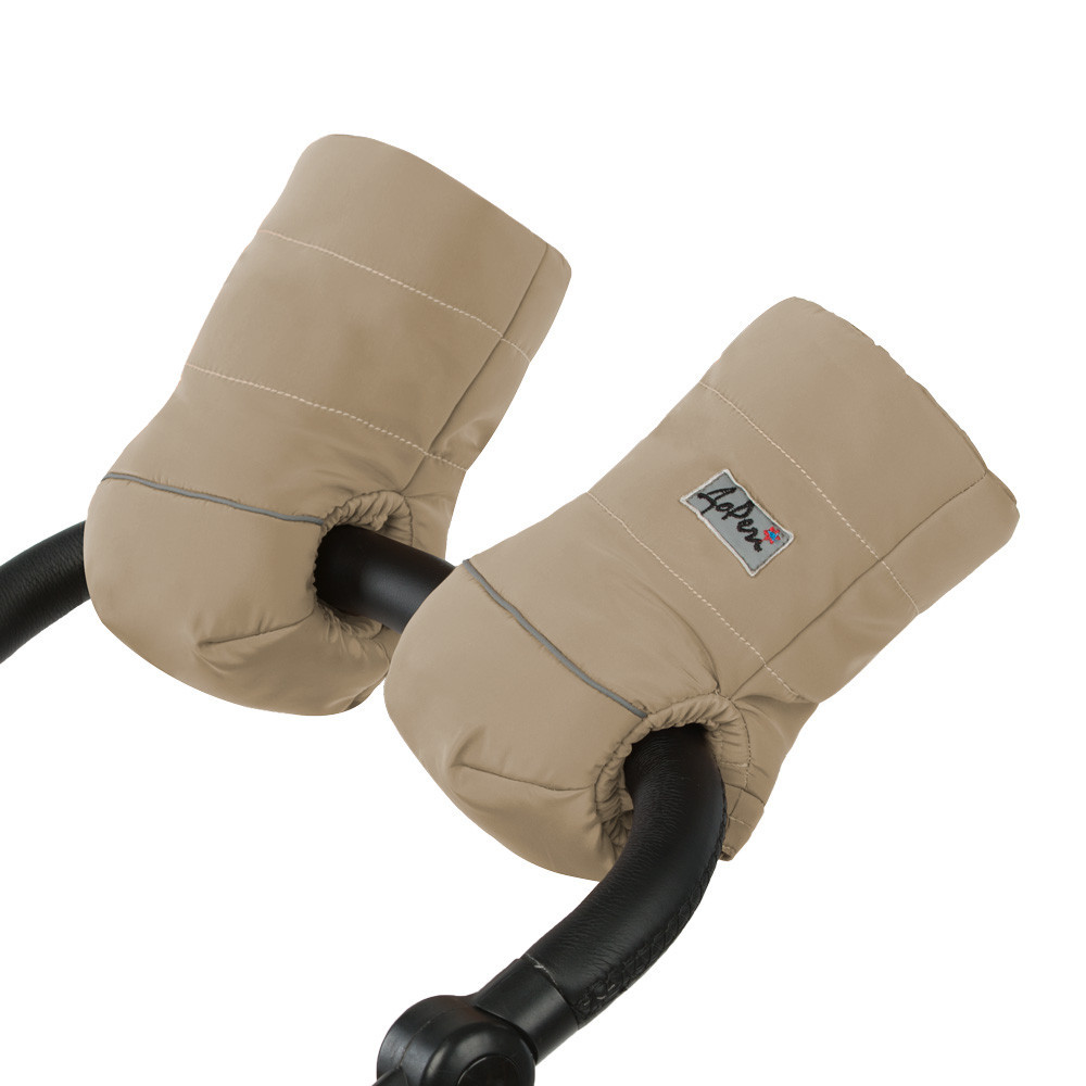 Муфта для рук на ручку коляски/санок Бежевая ТМ ДоРечі, фото 1
