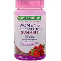 Nature's Bounty, Мультивитамины жевательные для женщин, премиум качества, с коллагеном , 80 шт