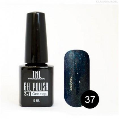 Однофазный гель-лак TNL, № 37 (королевский синий с микроблёстками), 6мл