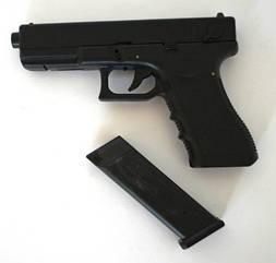 Пистолет пневматический Glock 18 частично металлический,
