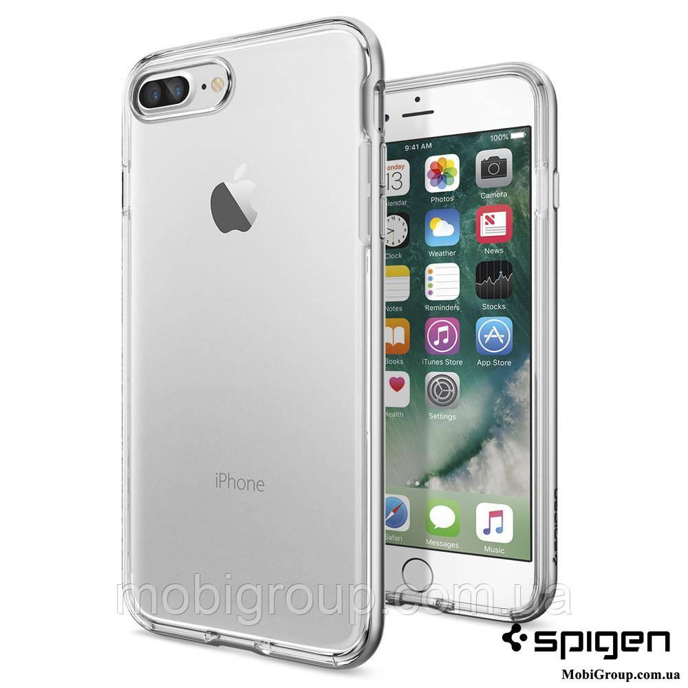 Чехол Spigen для iPhone 7Plus Neo Hybrid Crystal, Satin Silver