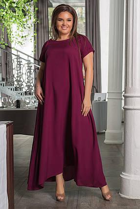 """Длинное летнее платье свободного кроя """"TALLY"""" с карманами и коротким рукавом (большие размеры), фото 2"""