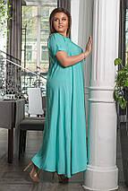 """Длинное летнее платье свободного кроя """"TALLY"""" с карманами и коротким рукавом (большие размеры), фото 3"""