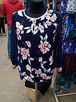 Женская блуза в цветочный принт
