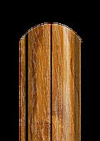 Штакет полукруглый 0,4 мм ЗД дуб 2-х сторонний