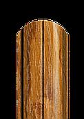 Штакет напівкруглий ЗD дуб 2-х сторонній