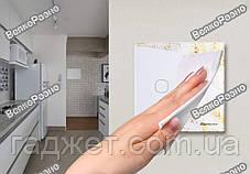Сенсорный выключатель Sesoo. Трехлинейный сенсорный выключатель Sesoo белого цвета., фото 3