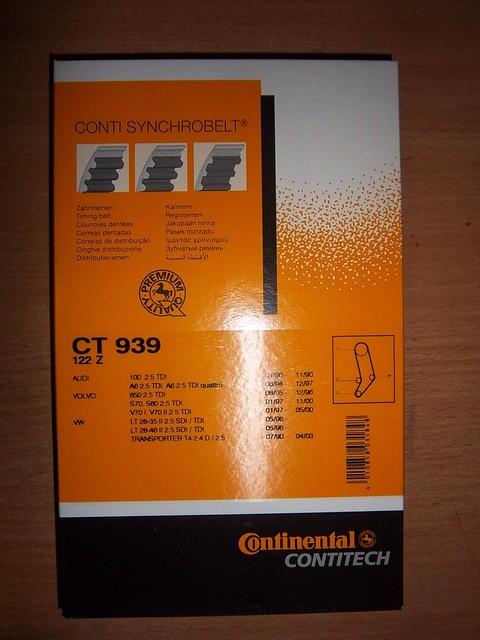Ремень ГРМ Volkswagen T4, LT35 2,5TDI Contitech CT939