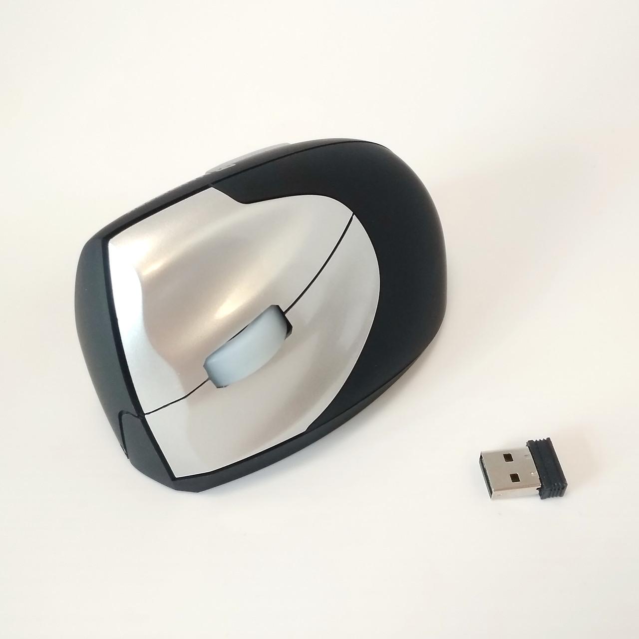 Мышь вертикальная беспроводная для левой руки Mantis Tek VM2