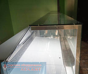 """Холодильные витрины """"Пальмира Куб - 1.5 М"""" Айстермо, продуктовый магазин в п. Быковня, Киевская область 1"""
