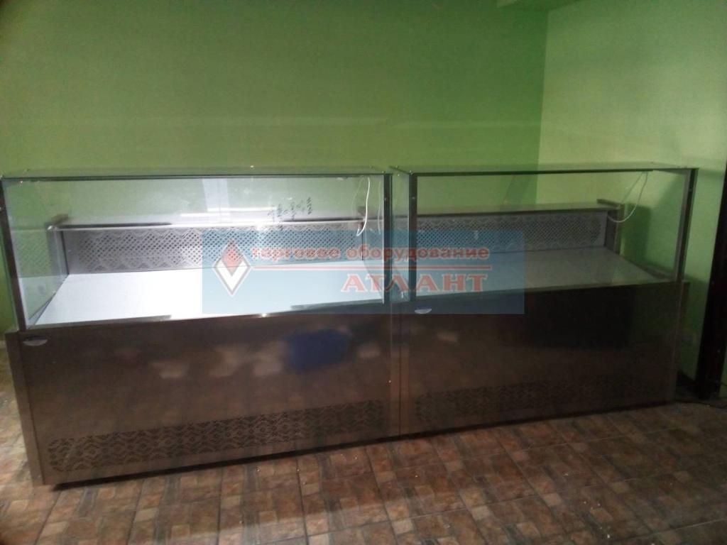 """Холодильные витрины """"Пальмира Куб - 1.5 М"""" Айстермо, продуктовый магазин в п. Быковня, Киевская область"""