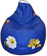 Бескаркасное кресло детское мешок груша пуф