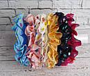 Бесшовная резинка для волос в цветочек 20 шт/уп, фото 4