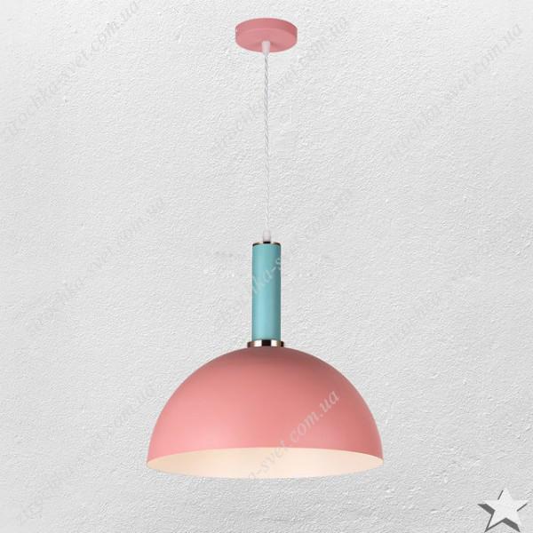 Светильник подвес лофт розовый 9514
