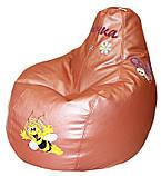 Мягкие кресла, Бескаркасное детское кресло-груша, кресло мешок, пуф детский, фото 4