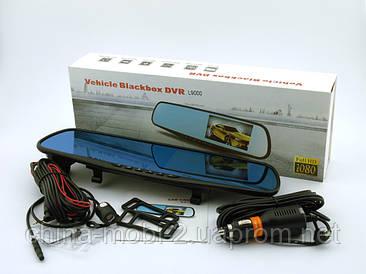 """L9000 Vehicle Blackbox DVR 4.3"""" Full HD 1080p відеореєстратор в дзеркалі заднього виду з двома камерами"""