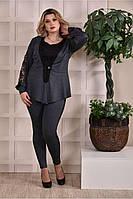 Темно-серый жакет 0252-3-3 (костюм 0252-3)