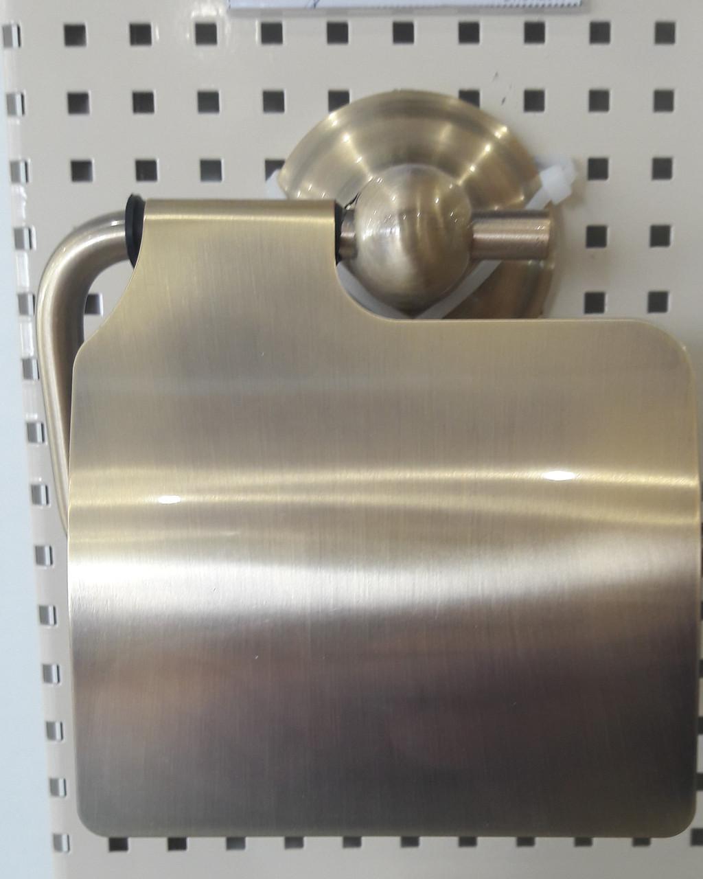 Европейский настенный держатель туалетной бумаги с крышкой бронза 0528